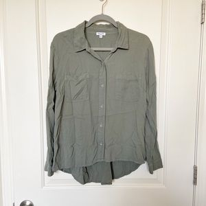 SPLENDID • Army Green High Low Button Up Top
